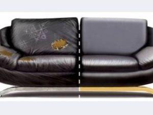 Перетяжка кожаного дивана в Королёве